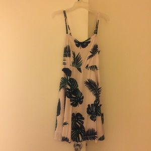 Old Navy Pink Palm Tree Cami Dress